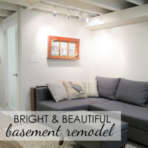 Basement Made Beautiful: Part 4 – Final Touches & Reveal