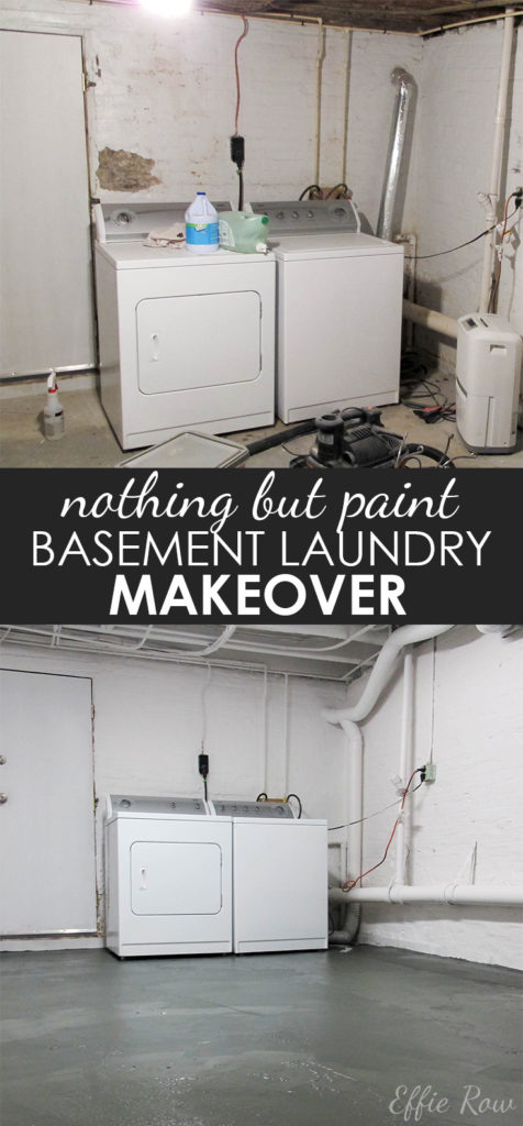 Easy and cheap DIY for a dingy basement laundry room (or other room). | EffieRow.com
