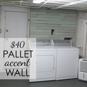 Laundry Room Pallet Accent Wall