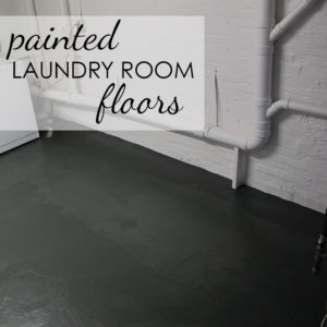 Laundry Room Overhaul: Part 2 – Painted Floors