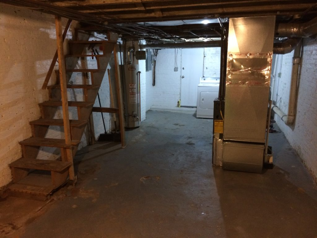 Basement Remodel | Before: Dark & Dingy