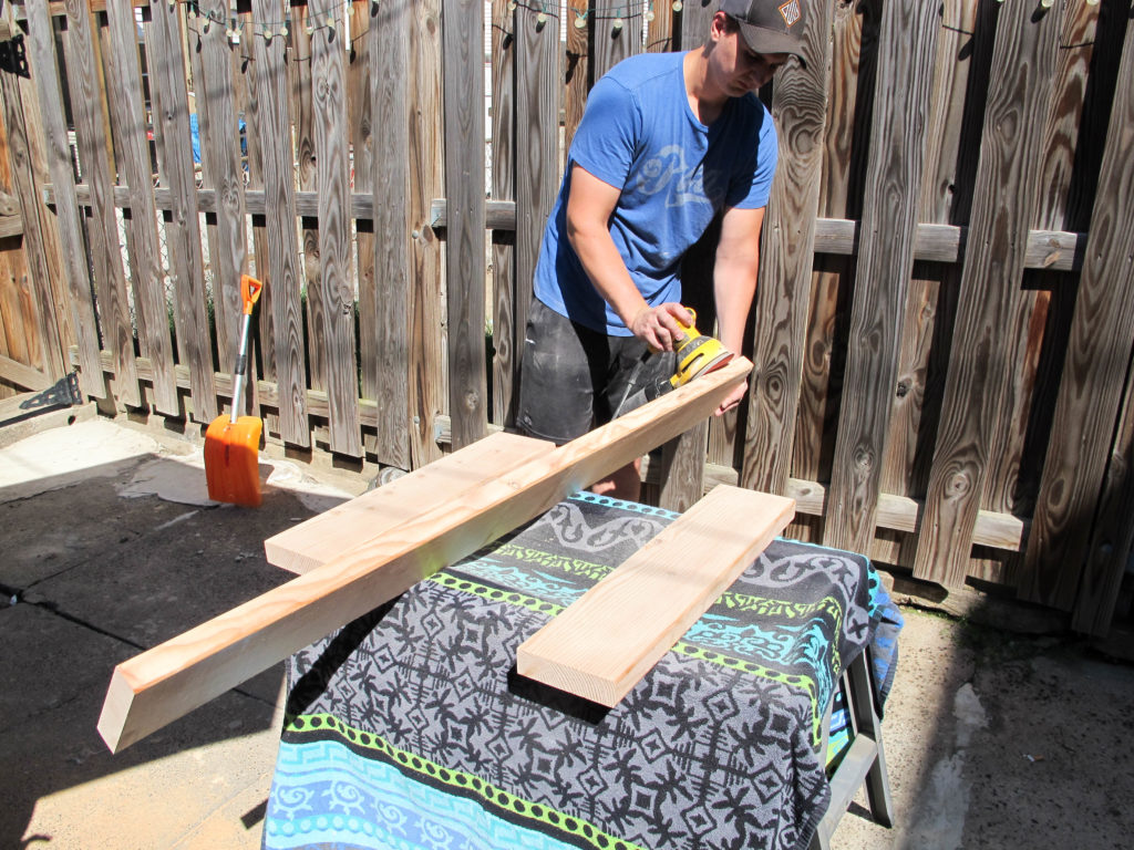 DIY behind the sofa table, no saw needed!