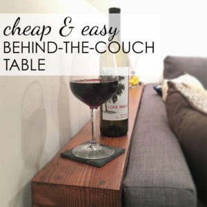 DIY 'Behind The Couch' Table