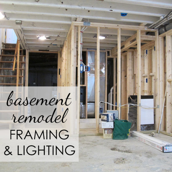 Basement Made Beautiful Part 2: Framing & Lighting the Space