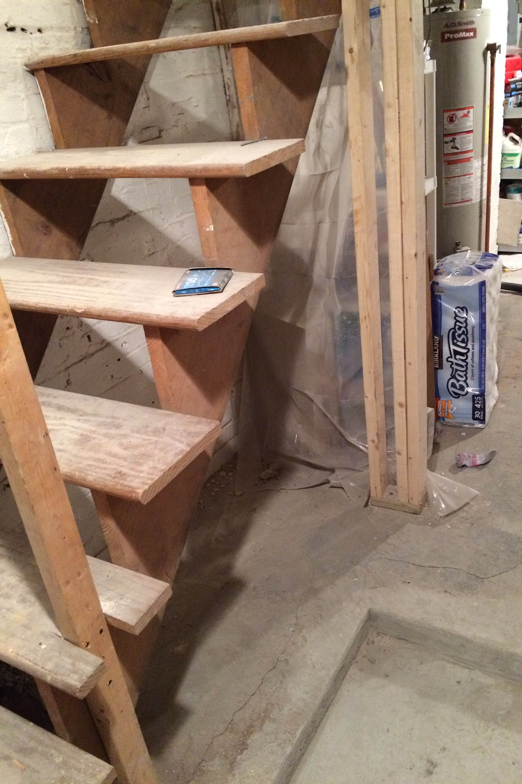 DIY Painted & Upgraded Basement Stairs - An Affordable Option