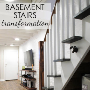 Painted & Upgraded Basement Stairs