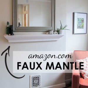 No DIY Needed: Faux Mantle
