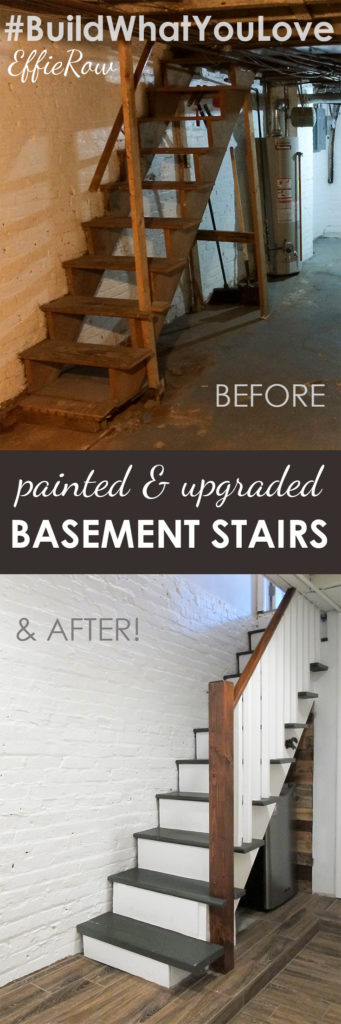 Lowes Ceramic Tile Flooring >> DIY Painted & Upgraded Basement Stairs - An Affordable Option