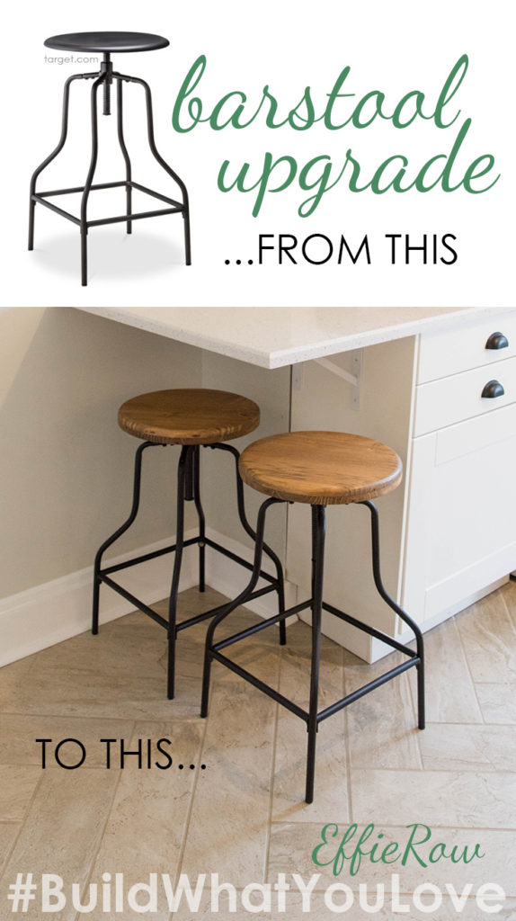 Simple upgrade for cheap barstools - replace the seats