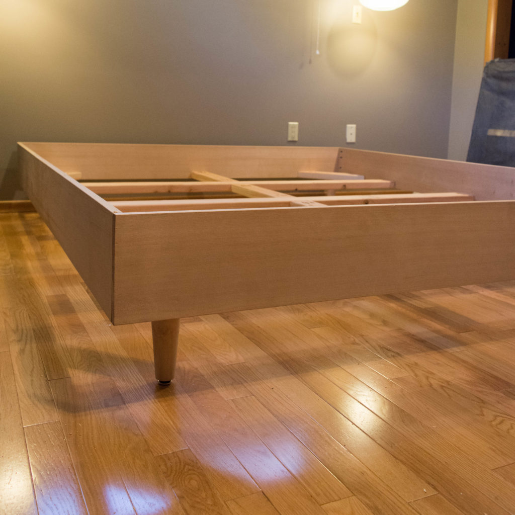 Easy Diy Mid Century Modern Bed Built For A California King