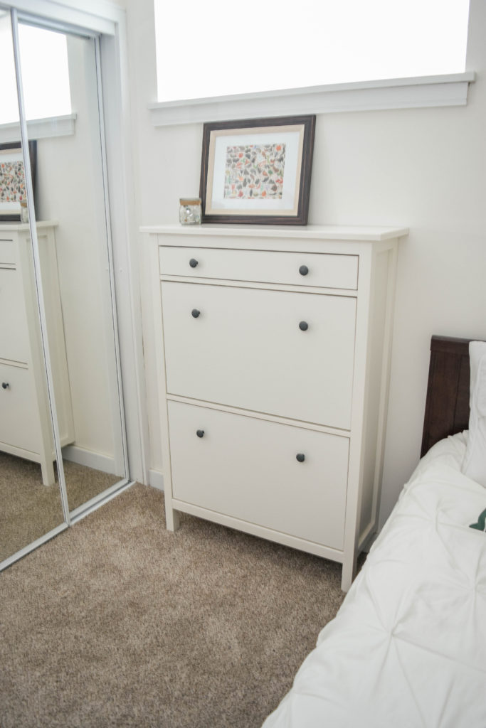 Ikea Hemnes shoe cabinet - great storage option for smaller spaces.