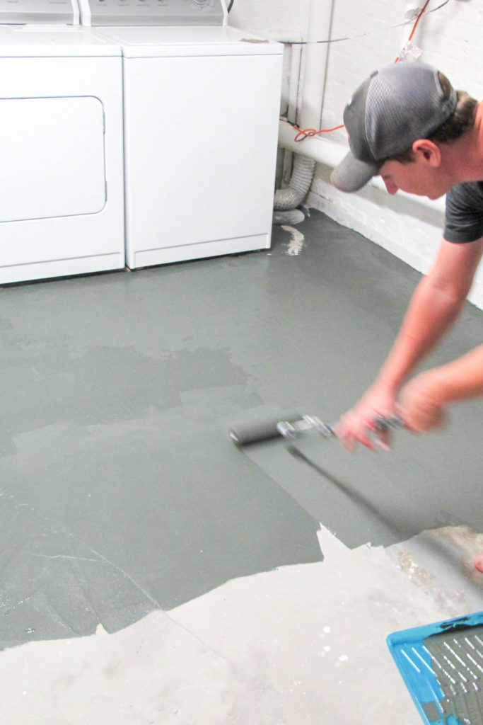 Nothing But Paint Laundry Room Makeover Painted Concrete Floors