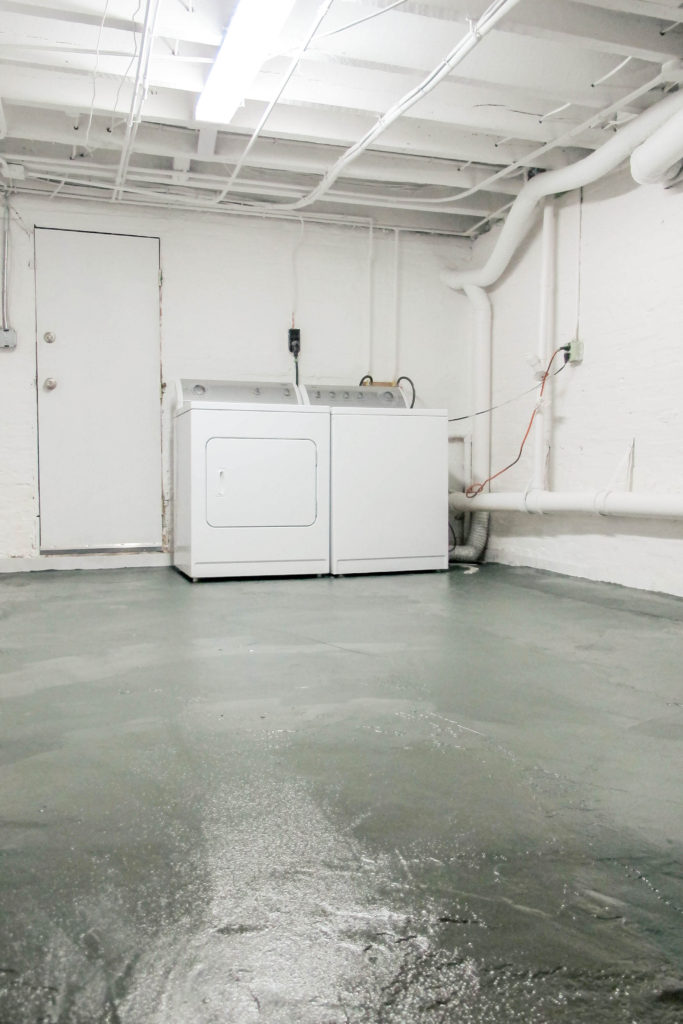 Nothing but paint - basement laundry room makeover. | EffieRow.com
