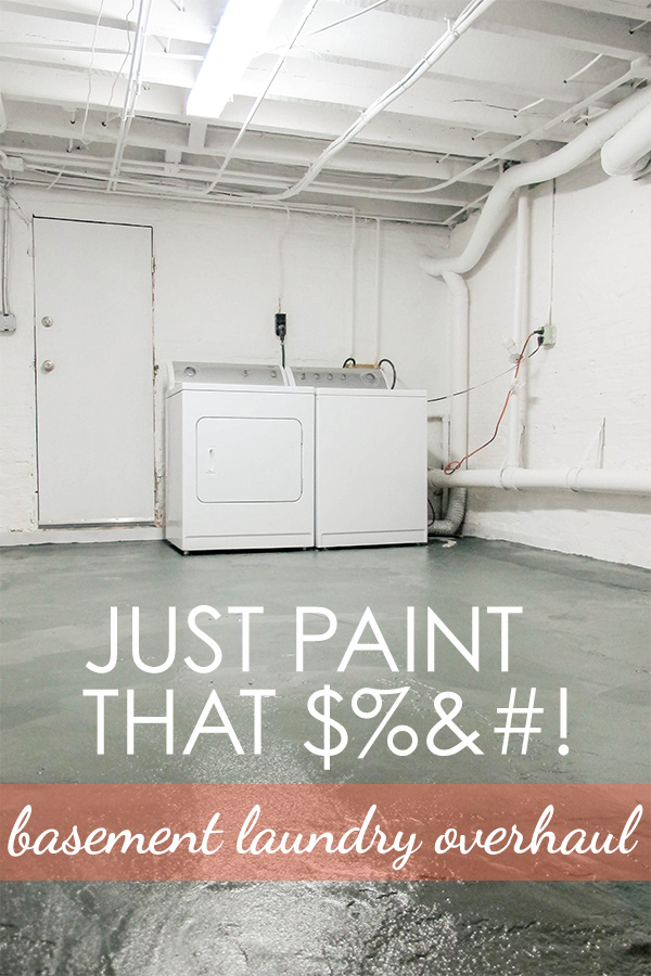 Nothing but paint - basement laundry room makeover on a budget. | EffieRow.com