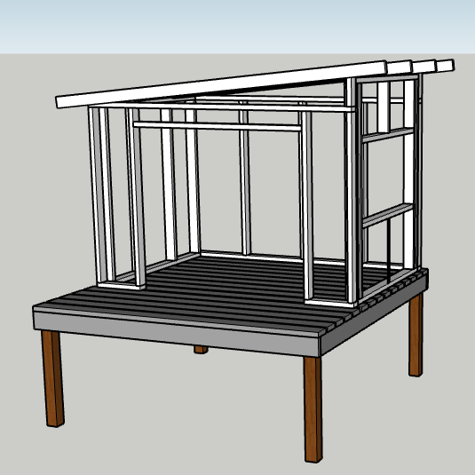 DIY Modern Playhouse - materials and tools breakdown including estimated costs.   EffieRow.com