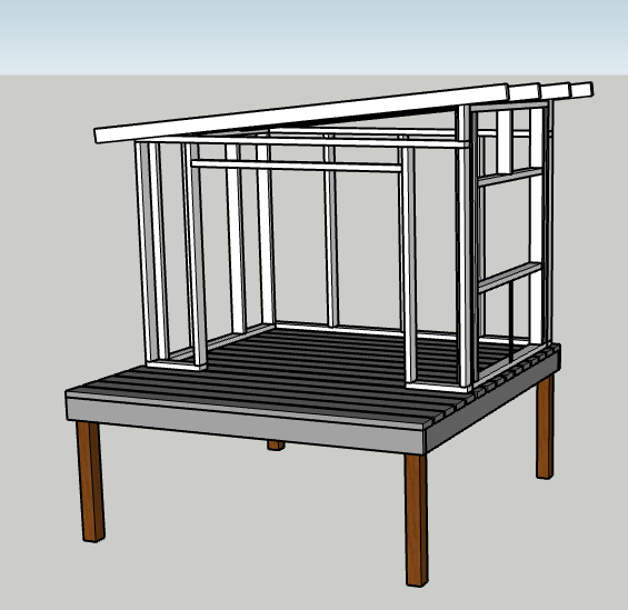 How I planned out modern playhouse before building - and determined all the cuts!