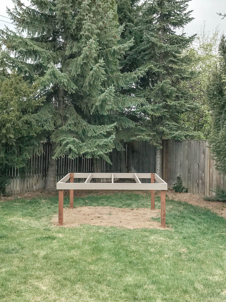 Simple instructions for a DIY playhouse deck.