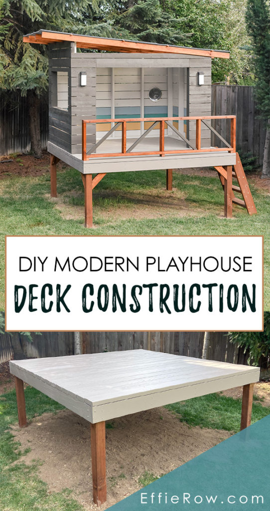 DIY modern playhouse with materials and cut list. This could be customized in some really fun ways.