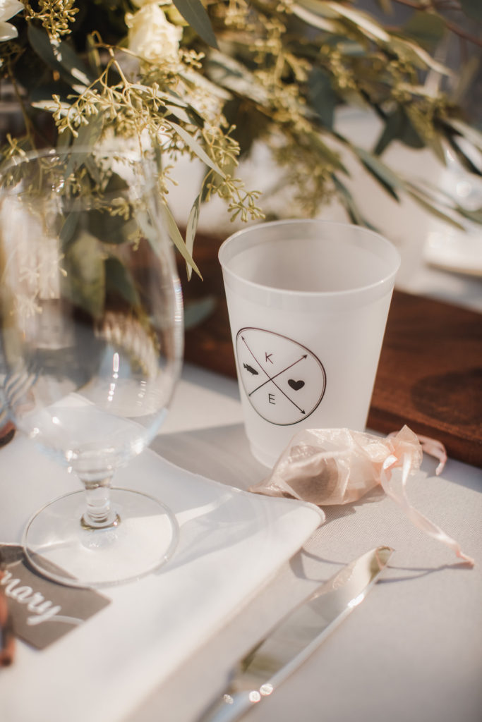 Custom wedding cups that guests can take home instead of paying for pint glass rentals.   10 Ways to Personalize A Wedding   EffieRow.com