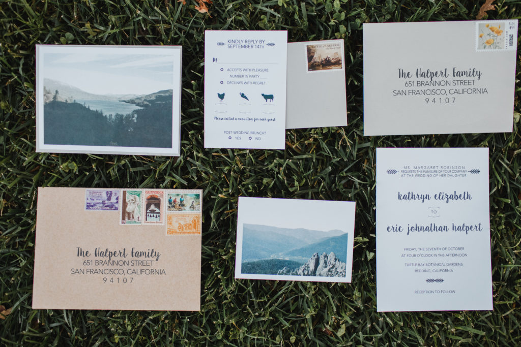 10 Ways to Personalize A Wedding - DIY wedding invitations to get guests excited about the upcoming celebrations. DIY is more work but budget-friendly and 100% unique!   EffieRow.com  #weddinginvitations #diyweddinginvites #weddinginvites #norcalwedding #outdoorweddinginvites #californiawedding #californiaweddinginvite #destinationweddinginvite