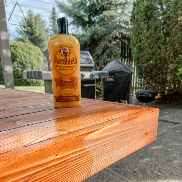 Refinishing our Modern DIY Patio Table